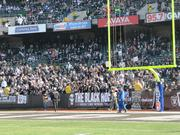 The Black Hole is a section where some of the Oakland Raiders' most spirited fans sit.