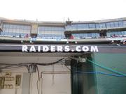 Raiders officials have made an effort to brand the stadium during football season instead of leaving Oakland As branding up.