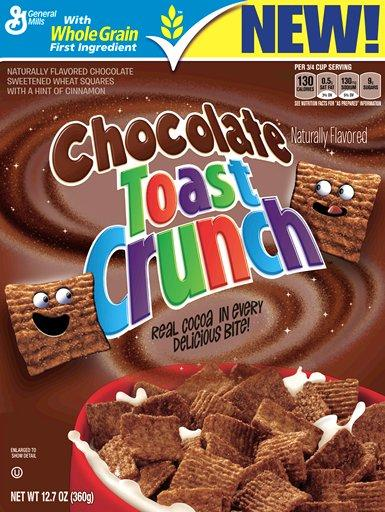 Chocolate Toast Crunch, a variation on long-time General Mills favorite Cinnamon Toast Crunch, will debut in January.