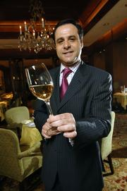 """4.The Fountain Restaurant (Four Seasons Hotel, 1 Logan Square) is consistently ranked in Zagat's """"most popular"""" ranking and among highest rated for its food and service. Pictured here is Thierry Lesparre, sommelier."""