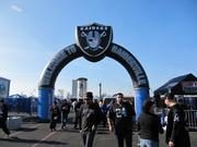 Raiderville is an area fans to hang out before Oakland Raider games. The zone is set up for sponsor booths, autograph signing from players, televisions playing other football games, and kids activities.
