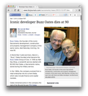 13. Iconic developer Buzz Oates dies at 90