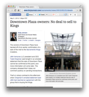 17. Downtown Plaza owners: No deal to sell to Kings