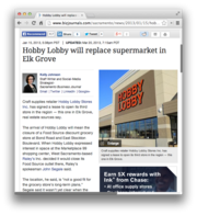 6.  Hobby Lobby will replace supermarket in Elk Grove