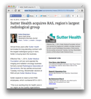 21.  Sutter Health acquires RAS, region's largest radiological group