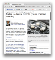 20.  Sutter electronic records system crashed Monday