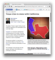 5. Texas tries to mess with California