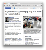 4.  WyoTech slowing closing up shop as it winds up student studies