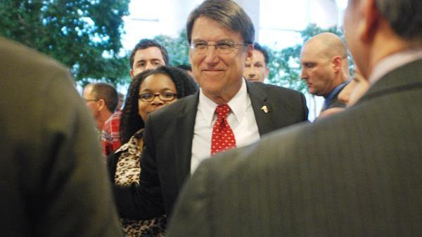 N.C. Gov. Pat McCrory, a former seven-term mayor of Charlotte, returns to the Queen City for the first time after being elected governor in November 2012 for a January 2013 event at the Charlotte Mecklenburg Government Center.