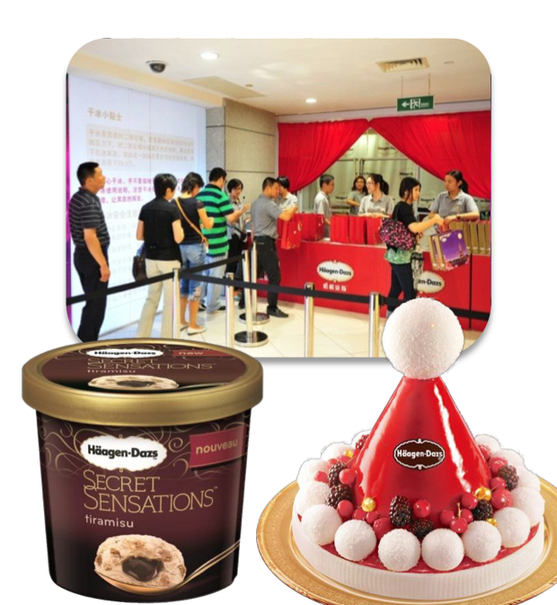 A crackdown on using mooncakes to bribe officials in China hurt Haagen-Dazs sales in September.