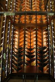 The wine cellar at Fire Steakhouse, the upscale steakhouse inside the casino.