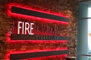 Fire Steakhouse is a 2,400-square-foot restaurant at the casino.