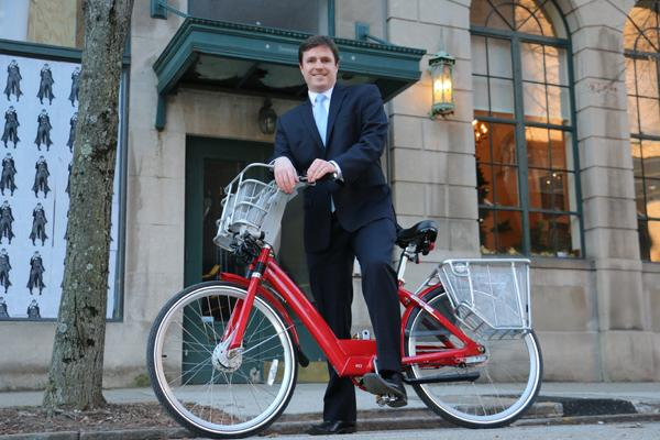Jason Barron is the first executive director of Cincy Bike Share, a nonprofit that will rent out bikes downtown and in Over-the-Rhine.