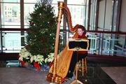 Centennial Lakes Office Park in Edina has a holiday boutique for the tenants and harpist Trudy Harper performs at each of the five buildings. Property managers at Cushman & Wakefield/NorthMarq hand-deliver gifts to tenants.