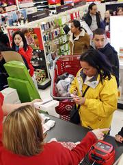 Shoppers at Target on Black Friday.