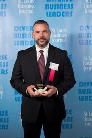 8. Diverse Business Leaders: A.J. Bockelman, executive director of PROMO, was one of the winners of our Diverse Business Leaders award who was honored at a lunch at the Palladium St. Louis on Sept. 13.
