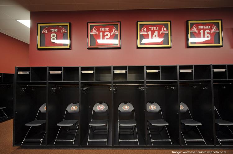 The Forty-Niners locker room.