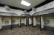 The visitor's locker room in Candlestick.