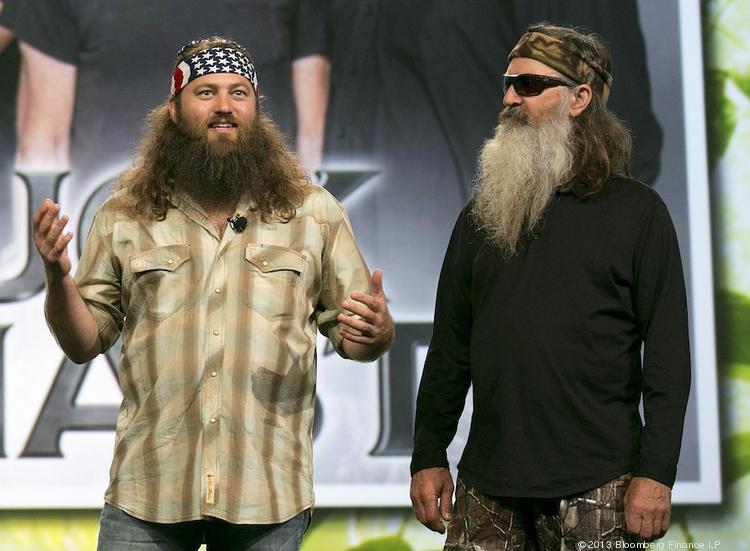 "Being perceived as anti-gay increasingly is becoming bad for business: Just ask Phil Robertson, right, who was suspended by A&E from ""Duck Dynasty"" for saying homosexuality is sinful."