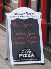 Stella Rossa (924 Walnut St.) is an Italian concept from Dave Magrogan Restaurant Group, which also owns Doc Magrogan's Oyster House, Kildares and Harvest Seasonal Grille and Bar.
