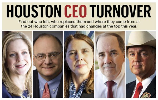 Of the 24 Houston-based companies that either had or announced CEO turnover in 2013, more than 70 percent are in the energy industry.  Click through the slideshow to see other stats on the departures.