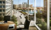 This will be the view from an office in Exxon's future buildings in Hughes Landing.