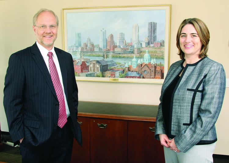 Grant Oliphant is president and CEO of The Pittsburgh Foundation and Yvonne Maher is vice president for development and donor services. In 2012, 76 new-donor funds were established.