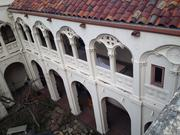 A view from the roof of 1840 Grant St. to the courtyard.