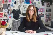 Gwyn Wiadro, vice president of women's apparel for Under Armour, in her Tide Point office.