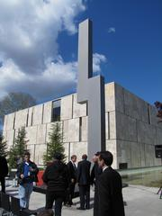 """The Barnes Foundation in Philadelphia houses 181 works by Renoir, 69 by Cezanne, 59 by Matisse and 46 by Picasso, as well as the Ellsworth Kelly sculpture """"Barnes Totem"""" (in foreground), which was donated by the Neubauer Family Foundation."""