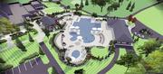 A rendering of the new pool area, which will have a diving well, swim lanes and a resort-style pool.