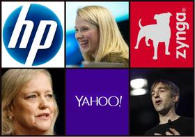 It's been quite the year for HP and CEO Meg Whitman, Yahoo and CEO Marissa Mayer, and Zynga and former CEO Mark Pincus