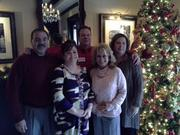 NASP (Nashville Association Sales Professionals) Training. Teaching.Networking. Motivating,  Christmas Luncheon, held at Magganio's Restaurant.  From left: Roderick Carrasco, of Network Fleet; Rochelle Ridenhour, of the Foundation Group; Robb McDowall, of Rite Rug; Cindy Houston, of Sales Executive; and Cathy Boyd, of Mercury Supply Company