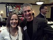 From left: Dawn Tinnin, of Southwestern Consulting, and Greg Degnan, of Mid South Business Furniture