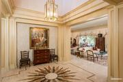 The foyer of the home, which is 6,547 square feet.