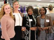 From left: Whitley Cargile, student at University School of Nashville and daughter Ann Cargile (second from left), partner at Bradley Arant;Nellie Ward Cole, chief financial officer at MVI Holdings Inc.; Vickie Harris, executive director at LeadingAge of Tennessee.
