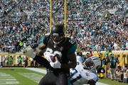 Marcedes Lewis catches a short touchdown following the Meester reception.