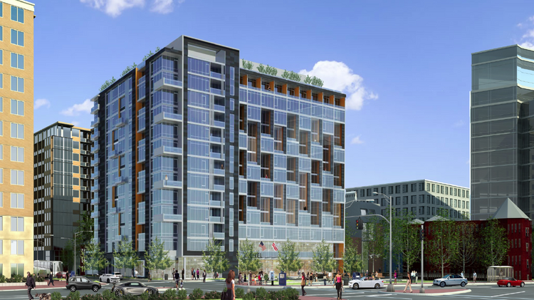 The Peebles Corp. and the Walker Group have won the rights to develop this 13-story, 198-key hotel and 59 branded residences at 901 Fifth St. NW.