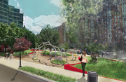 A rendering of CSG's vision for Milian Park.