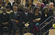 Members of the Mallory family were seated in the front row.