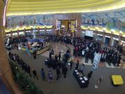 A look at the standing-room-only gathering from above.