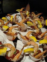 Shrimp cocktail hors d'oeuvres were one of the favorites Thursday night.