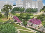 Construction is underway on nearly 20 buildings at Irving, Texas-based Exxon Mobil's 385-acre campus in north Houston.