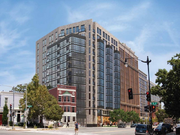 IBG Partners submitted this rendering of 465 New York Ave. NW to the HPRB in 2012. The hotel will be a Homewood Suites by Hilton.