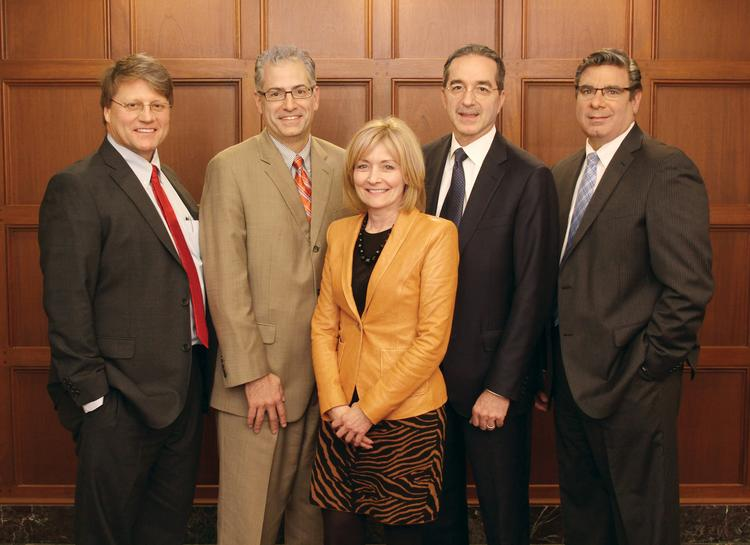 From left, Drs. Dave Parda, Allan Klapper, Susan Manzi, Tony Farah and Patrick DeMeo were key to AHN's formation.