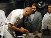 The chef, the manager and a server working together in December at The Kitchen.