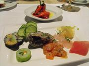 Sushi, sashimi and oysters at intermission in August at The Kitchen.