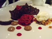 A deconstructed red velvet cake accompanied milk chocolate mousse in December at The Kitchen.