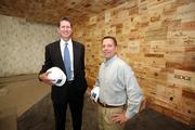 Epicurean Hotel's management team: Joe Collier, Mainsail Lodging & Development CEO and David Laxer, Bern's Steak House owner, in the soon-to-be lobby of the Epicurean Hotel.