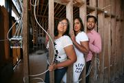 The Goberdhan family bought, and is renovating a two-story brick building at 4028 N. Nebraska Ave. Jennifer Goberdhan, mom, and Cleopatra Goberdhan, daughter, will open a cafe and Veejay Jesus Goberdhan will open a hookah shop next to the cafe.